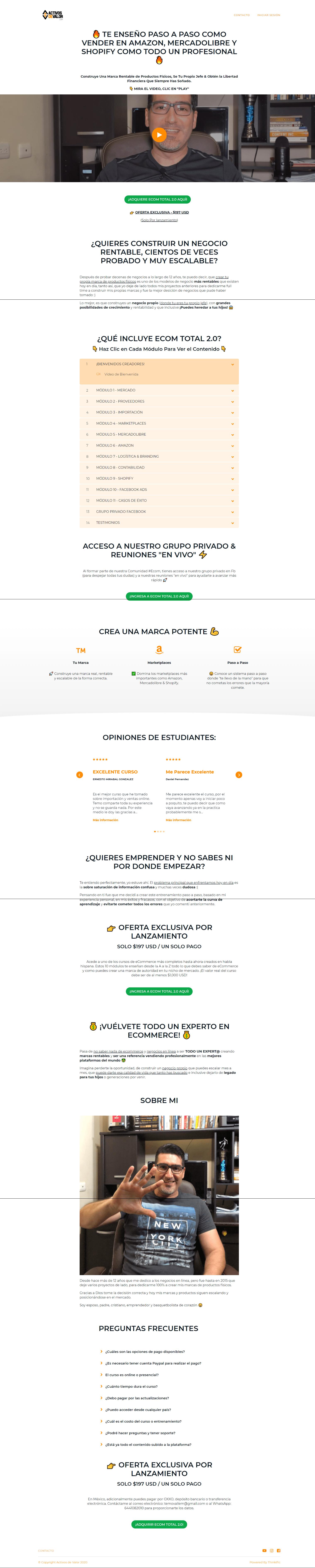 Activos de Valor Ecom Total 2.0