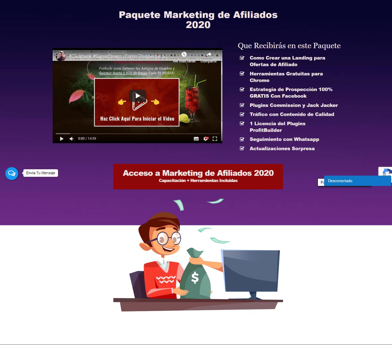 Paquete Marketing de Afiliados 2020